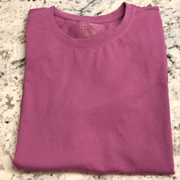 ec18f5a504993 L.L. Bean Tops - Women s LL Bean Cotton Tee Size L EUC